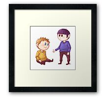 Kirk & Spock Framed Print
