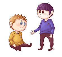 Kirk & Spock Photographic Print