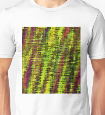 yellow green and brown painting texture abstract background Unisex T-Shirt