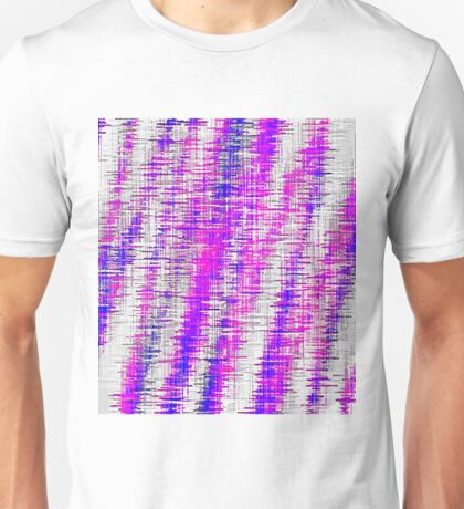 pink and blue painting texture abstract with white background Unisex T-Shirt