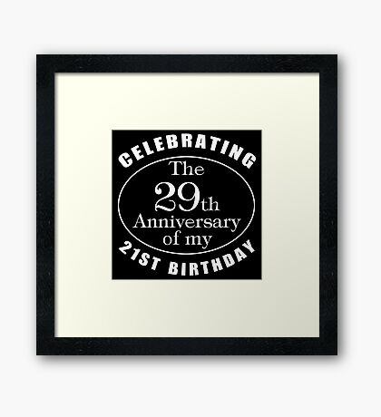 50th Birthday Gag Gift Framed Print