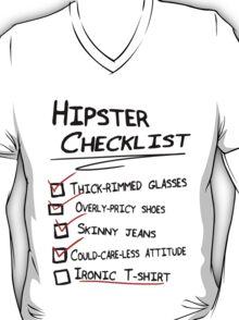 Hipster Checklist T-Shirt