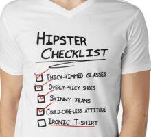 Hipster Checklist Mens V-Neck T-Shirt