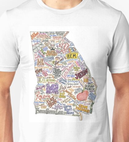 Georgia Music Map Unisex T-Shirt
