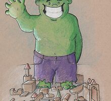 Hulk Smash Puny Blocks!!! by sdurington