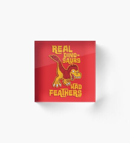 Real dinosaurs had feathers Acrylic Block