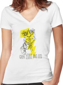 Troy NY, Home of Uncle Sam! Women's Fitted V-Neck T-Shirt