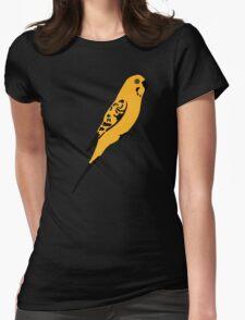 Yellow parakeet Womens Fitted T-Shirt