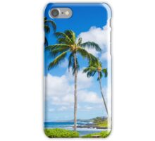 Palm trees by the ocean  iPhone Case/Skin