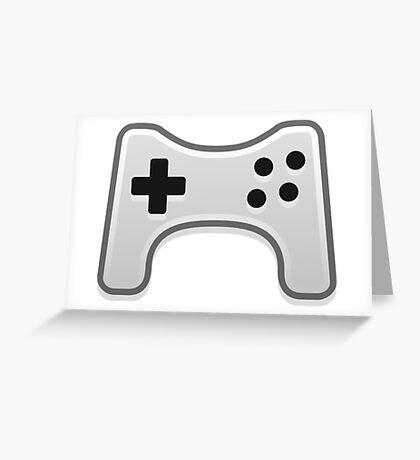 Minimalistic video games gamepad illustration Greeting Card
