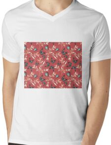 Butterfly Garden (Cranberry Colorway)  Mens V-Neck T-Shirt