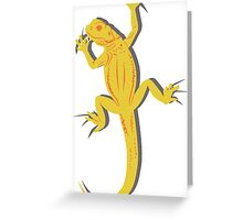 Yellow Lizard Greeting Card