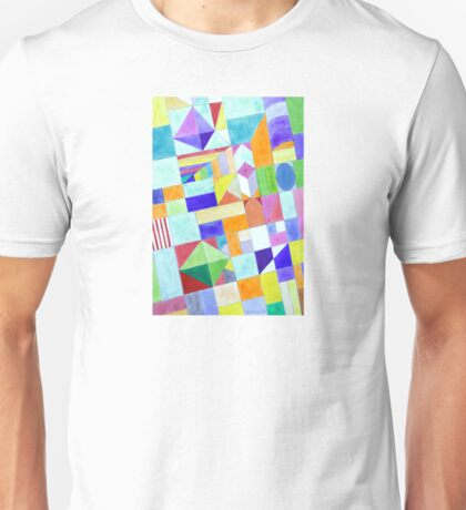 Playful Colorful Architectural Pattern  Unisex T-Shirt