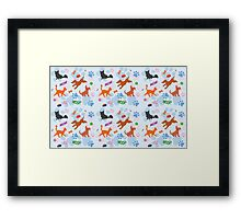 Puppies and Kittens Framed Print