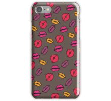 Lipstick kisses. iPhone Case/Skin