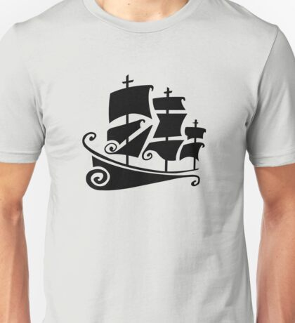 Curly Ship Unisex T-Shirt