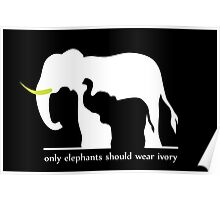 Only Elephants Should Wear Ivory Poster