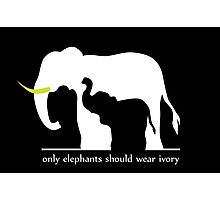 Only Elephants Should Wear Ivory Photographic Print