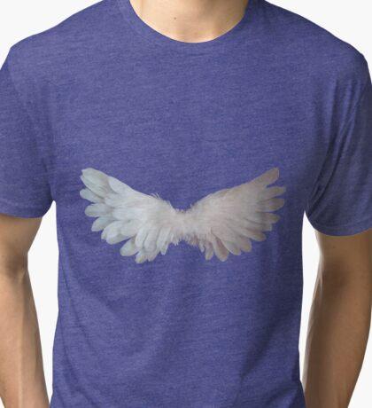 Angel wings,photo,digital,spiritual,purple,spiritual,spirit,angel,love,faith,compassion Tri-blend T-Shirt
