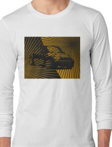 Mini Morris ray. Black and gold Long Sleeve T-Shirt