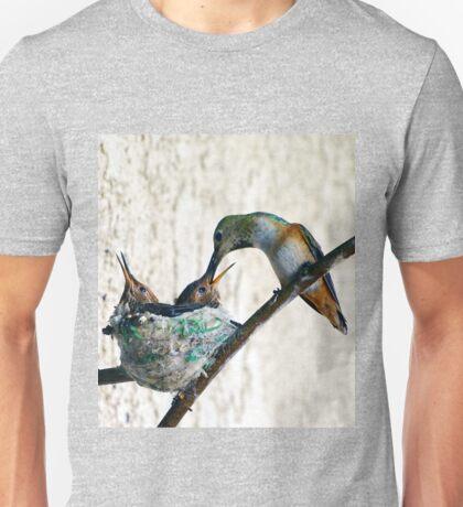 HUMMINGBIRD Feeding Babies Unisex T-Shirt