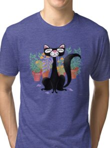 The Kitty Cat Who Loved Plants Tri-blend T-Shirt