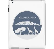 Kilimanjaro (Blue) iPad Case/Skin