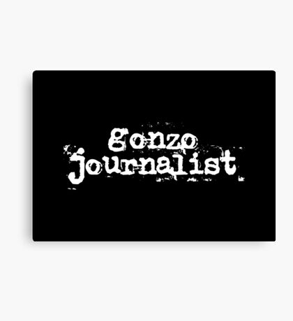 Gonzo Journalist Canvas Print