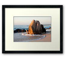 Sunrise Rock Framed Print
