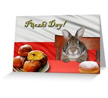 Paczki Day Bunny Rabbit Greeting Card