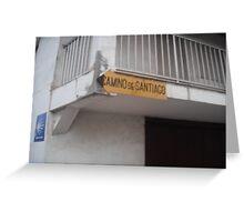 Camino de Santiago Greeting Card