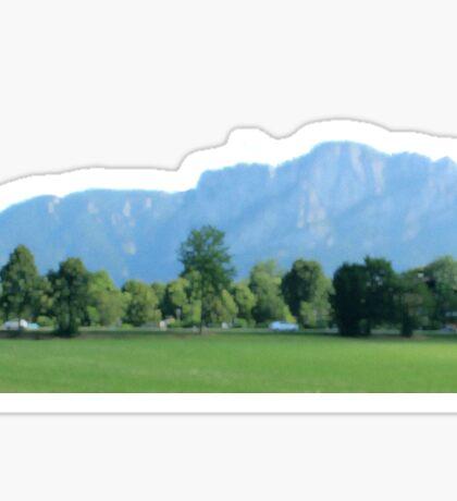 Austrian Mountains Blurred Sticker