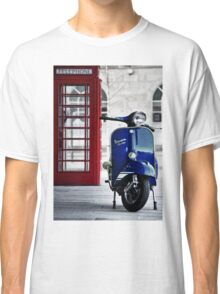 Italian Blue Vespa Rally 200 Scooter Classic T-Shirt