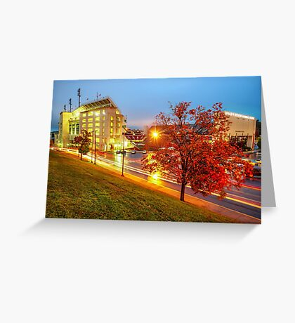 Arkansas Razorback Red - Donald W. Reynolds Stadium - Fayetteville Arkansas Greeting Card