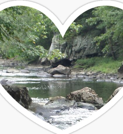Heart with River Sticker