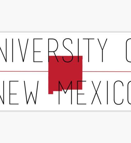 university of new mexico Sticker
