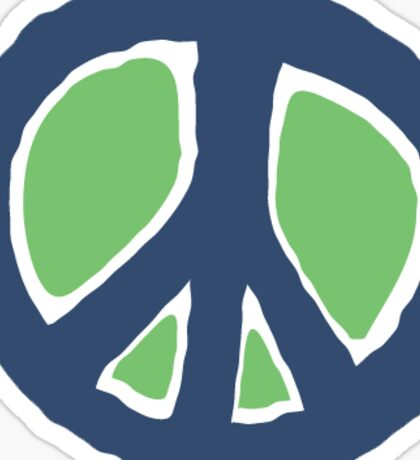 green and blue peace Sticker