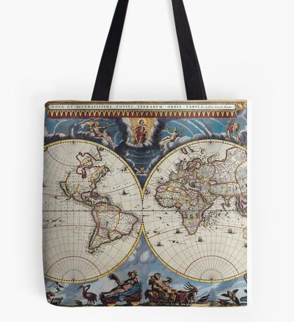vintage map of the world Tote Bag