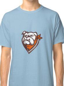 Angry Bulldog Wearing Neckerchief Retro Classic T-Shirt