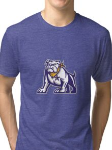 Bulldog Sheriff Crouching Retro Tri-blend T-Shirt