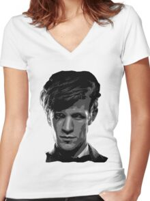 Matt Smith: The 11th Doctor Women's Fitted V-Neck T-Shirt