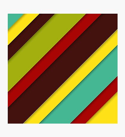colorful diagonal stripes with shadows Photographic Print