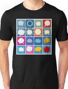 Big Set of Comics Bubbles in Pop Art Style Unisex T-Shirt