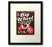 Big Wheel Championship - Ilion, NY Framed Print