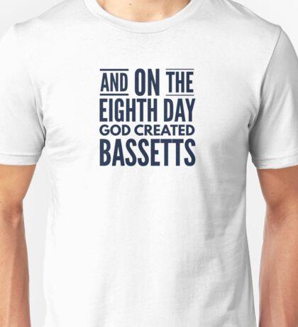 God created Bassets Unisex T-Shirt
