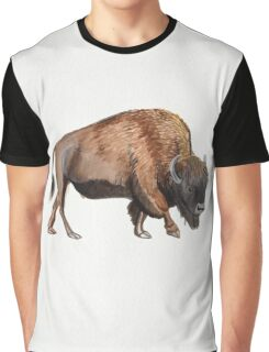 Watercolour American Bison Graphic T-Shirt