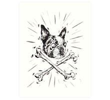 Pirate Boston Terrier Flag Art Print