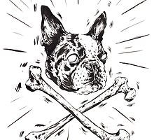 Pirate Boston Terrier Flag by owensherwood