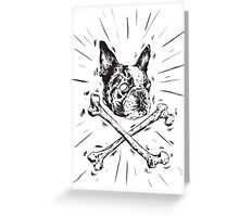 Pirate Boston Terrier Flag Greeting Card