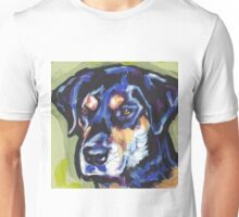 Rottador  Labrador and rottweiler mix Dog Bright colorful pop dog art Unisex T-Shirt